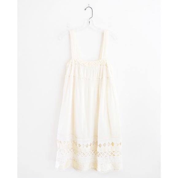 Anthropologie Dresses & Skirts - Mint Anthro Cream Ivory Cotton Sun Dress sz 2